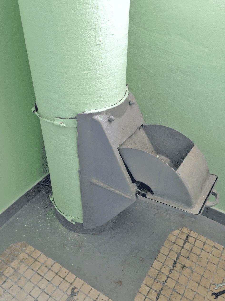 Пример использования Клапана мусоропровода КМ-450ММ.1100
