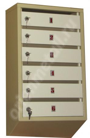 Пример использования Металлический шильдик для почтового ящика 40*20мм